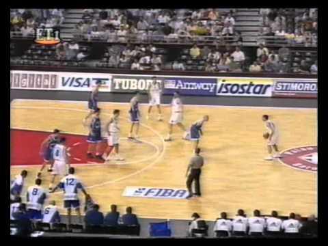 Ελλάδα - Γιουγκοσλαβία (ημιτελικός Ευρωμπάσκετ )1997.avi