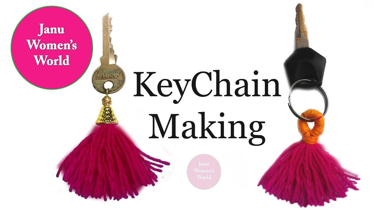 Diy Craft How To Make Thread Tassel Key Chain Easy Tutorial Youtube