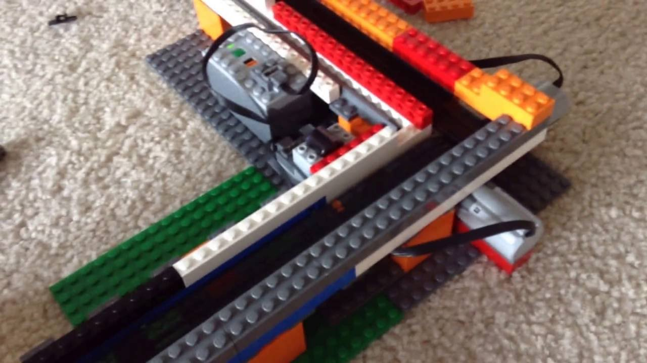 Lego motorized conveyor belt youtube Motorized conveyor belt