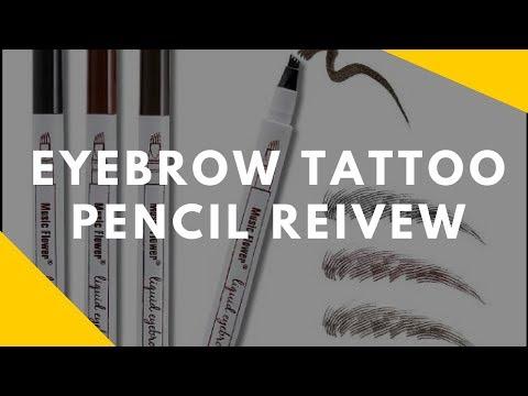 Microblading Tattoo Eyebrow Pencil Review - Eyebrow Tutorial