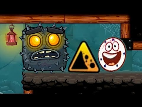 WHITE STAR BALL Red Ball 4: Level 61-65 Evil Square abruptly Killed (INTO THE CAVES)