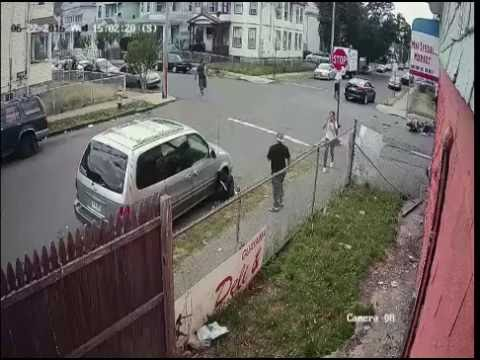The following footage is from a serious motor vehicle accident that occurred at the intersection of Orchard and Pearl Street, Bridgeport on June 22 that left one man dead.