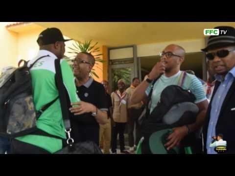 Arrivé à l'Hotel le RETAJ Accueilli par Tourqui Salim Président FFC