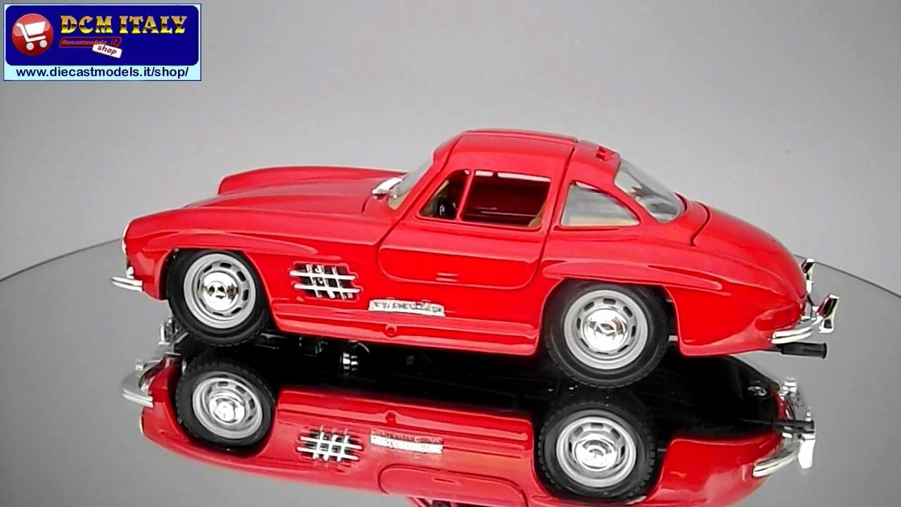 mercedes 300 sl 1954 burago 1 24 youtube. Black Bedroom Furniture Sets. Home Design Ideas