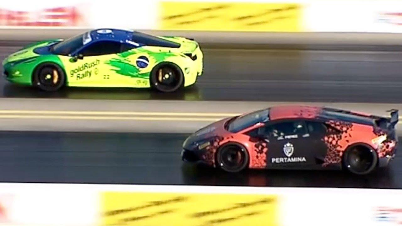 lamborghini huracan vs ferrari 458 italia goldrush rally. Black Bedroom Furniture Sets. Home Design Ideas