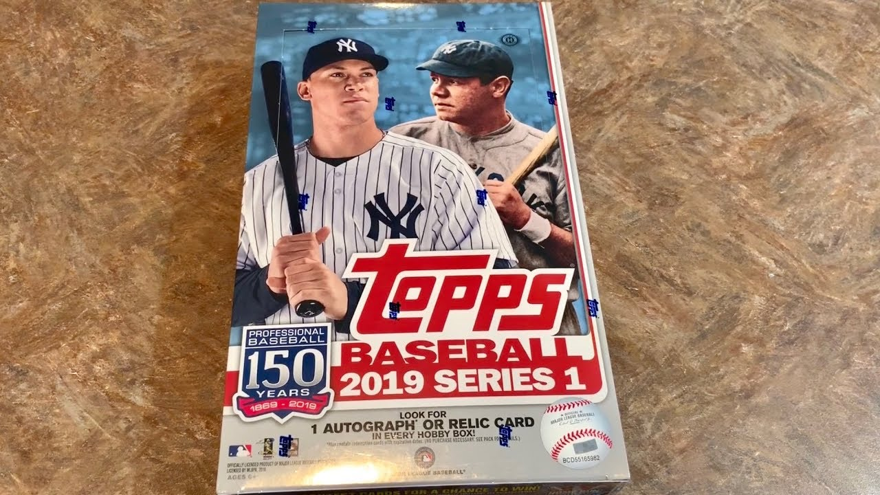 New Release 2019 Topps Series 1 Hobby Box Opening
