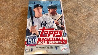 NEW RELEASE! 2019 TOPPS SERIES 1 HOBBY BOX OPENING