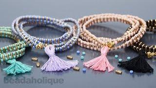How to Make the Wrapped Tassel Bracelet Kit