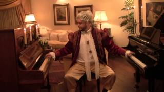 Mozart Plays Rondo Alla Turca in 2 pianos - Mozart Cosplay