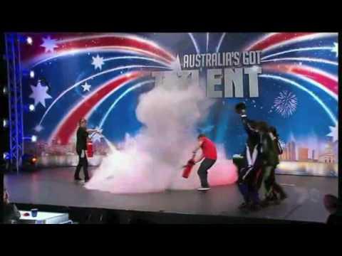 International Mini Bike Stunt Team Australia's Got Talent 1