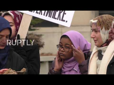 USA: 'Free Marzieh!' - Protesters slam detention of Press TV's Marzieh Hashemi