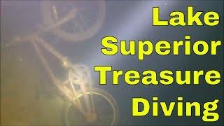 Finding bikes in Lake Superior treasure dive part 3