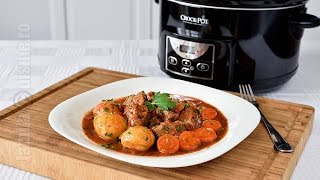 Gulas de vita gatit la slow cooker Crock Pot   JamilaCuisine