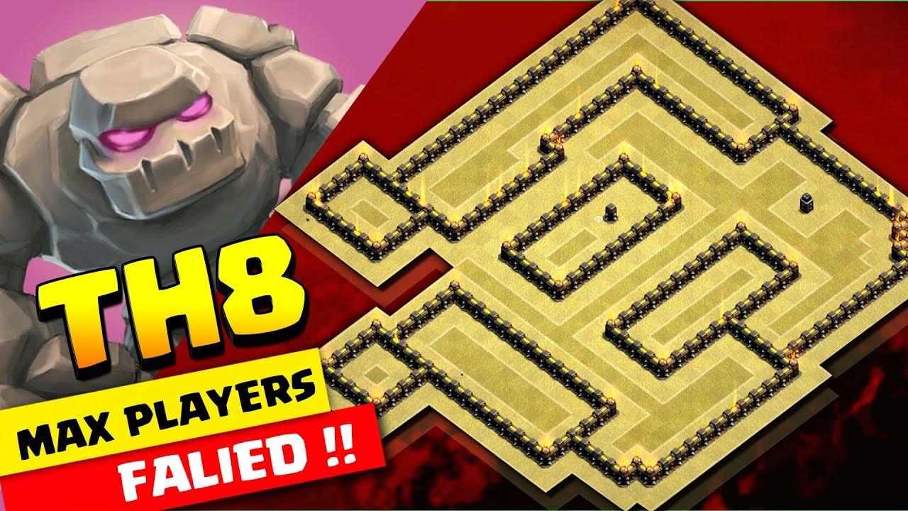 Th8 War Base 2018 Max Players Failed Anti 3 Star