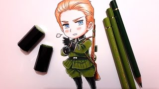 Speed Drawing Chibi Germany || Hetalia