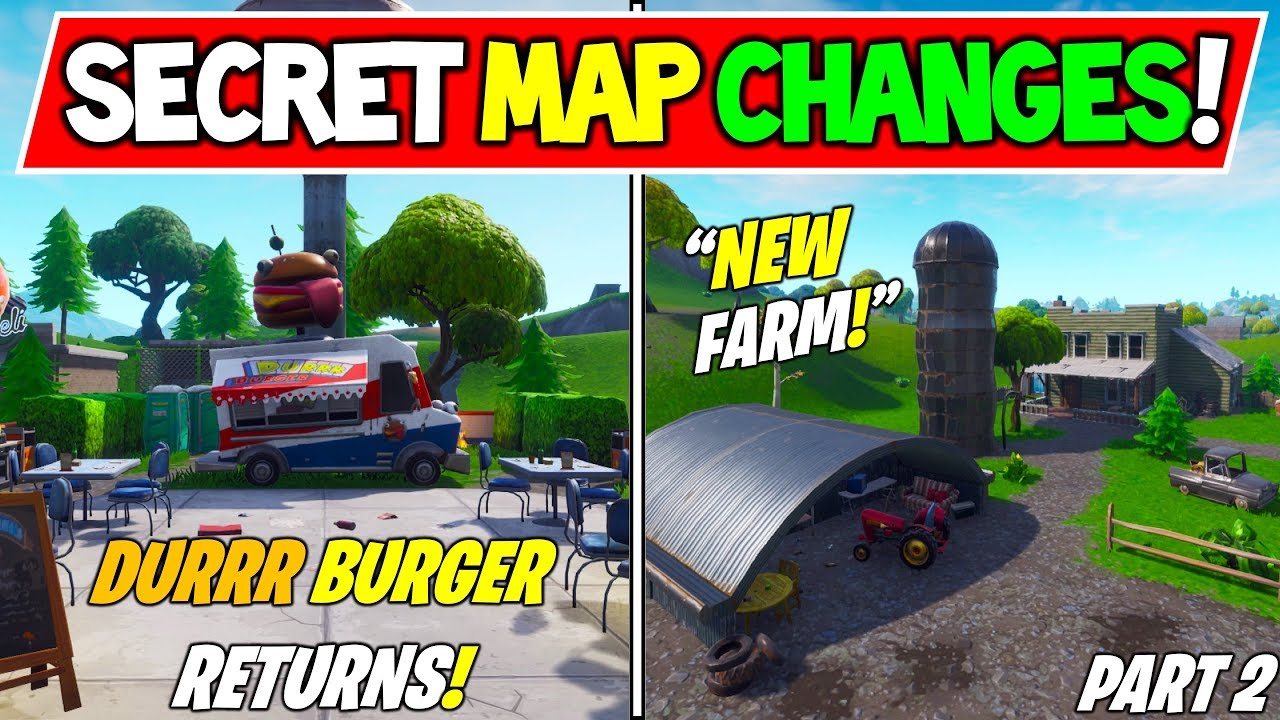 All New Fortnite Season 7 Secret Map Changes New Farm V7 00