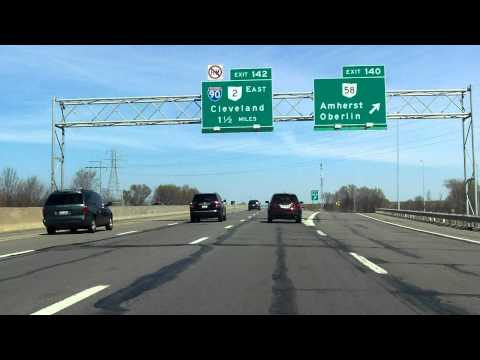Ohio Turnpike (Exits 140 to 142) eastbound - YouTube