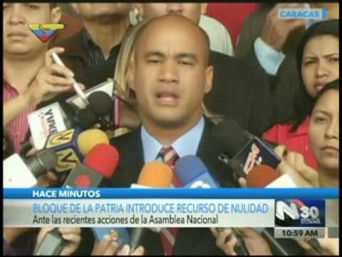 Hector Rodríguez introduce demanda en TSJ contra Asamblea Nacional por golpe parlamentario