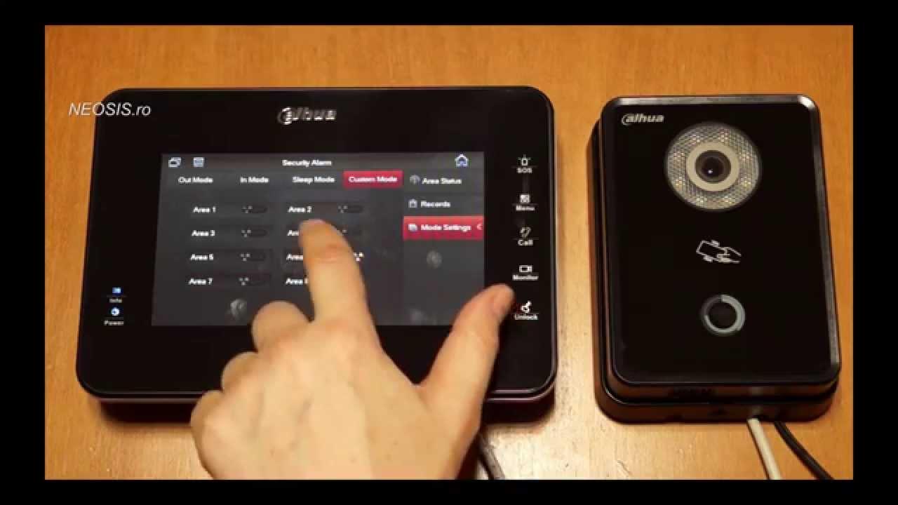 Videointerfon Ip Dahua Vth1560 Vto6110 Neosis Youtube