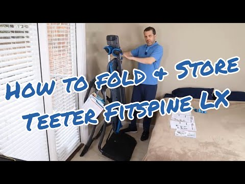 How To Fold Up And Store The Teeter Fitspine LX Inversion Table