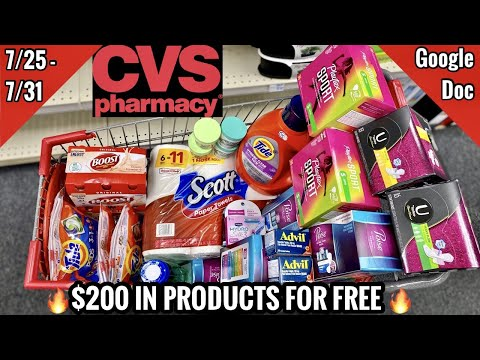 CVS Free & Cheap Coupon Deals & Haul | 7/25 – 7/31 | $200 IN PRODUCTS FOR FREE 🔥