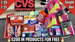 CVS Free & Cheap Coupon Deals & Haul | 7/25 - 7/31 | $200 IN PRODUCTS FOR FREE 🔥