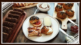 Danish Breakfast - Rundstykker (round Buns), Rye Bread And Wienerbrød / Danish