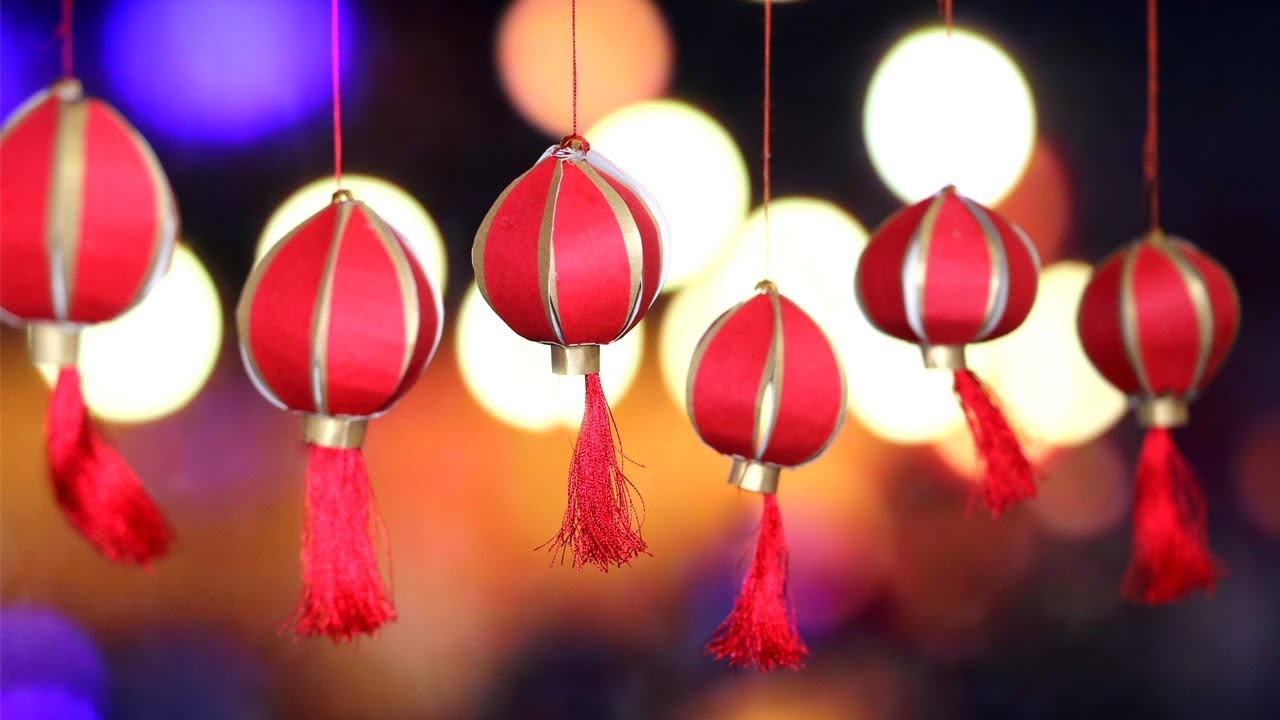 Diy Diwali Decorations Chinese Paper Lantern Little Crafties