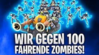 WIR GEGEN 100 FAHRENDE ZOMBIES! CUSTOM GAMES! 🧟 | Fortnite: Battle Royale