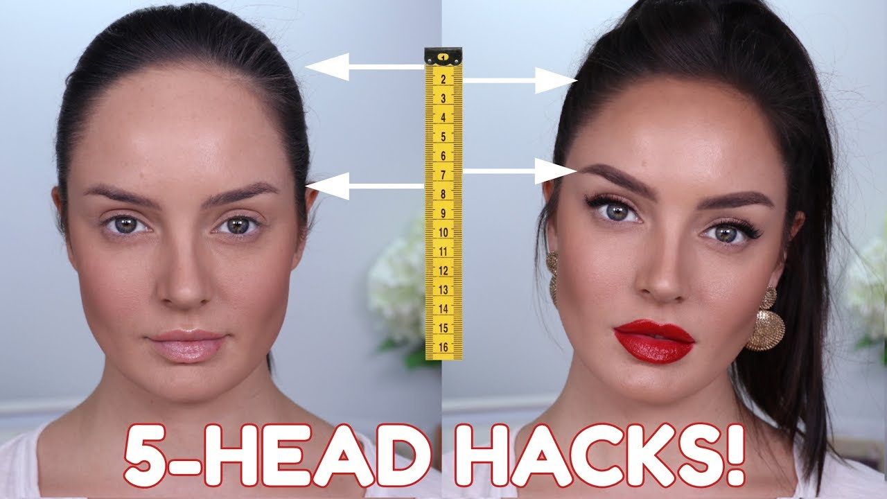 big forehead beauty hacks! 10 tips & tricks to make your forehead look smaller!