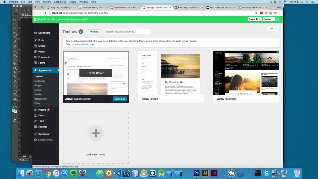 Developing A Wordpress Theme With Bootstrap From Scratch Part 1 Youtube