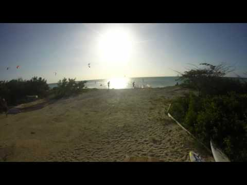 TImelapse of a sunset on Aruba one happy island.