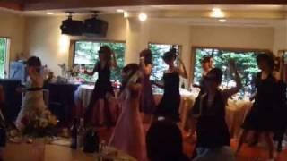 友達の結婚パーティでの余興です。女子9人で踊りました!