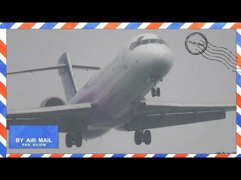 3 BLUE BIRDS Landing with wing condensation & wing vortex at Copenhagen Airport - Blue1 Boeing 717´s