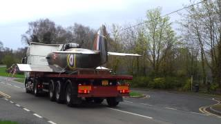 The last Boulton Paul aircraft leaving the old factory in Wobaston Road, Bilbrook