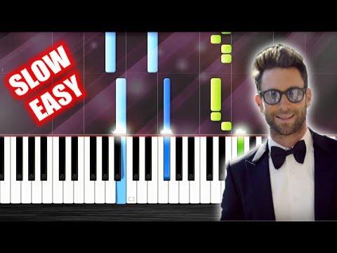 Maroon 5 - Sugar - SLOW EASY Piano Tutorial by PlutaX