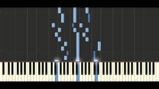 Bach -   Sinfonia in F major, BWV 794 - Piano Tutorial  Synthesia