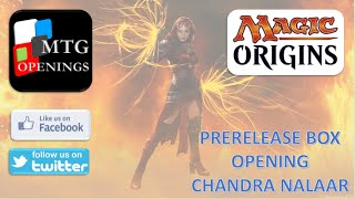 Magic Origins Prerelease Pack - Chandra Nalaar Red Unboxing
