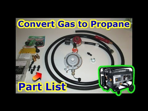 How To Convert Gas To Propane - EASY CHEAP PART LIST Generator Snowblower Lawn Mower Pressure Washer