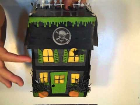 Haunted house exploding box youtube for How to make a cardboard haunted house