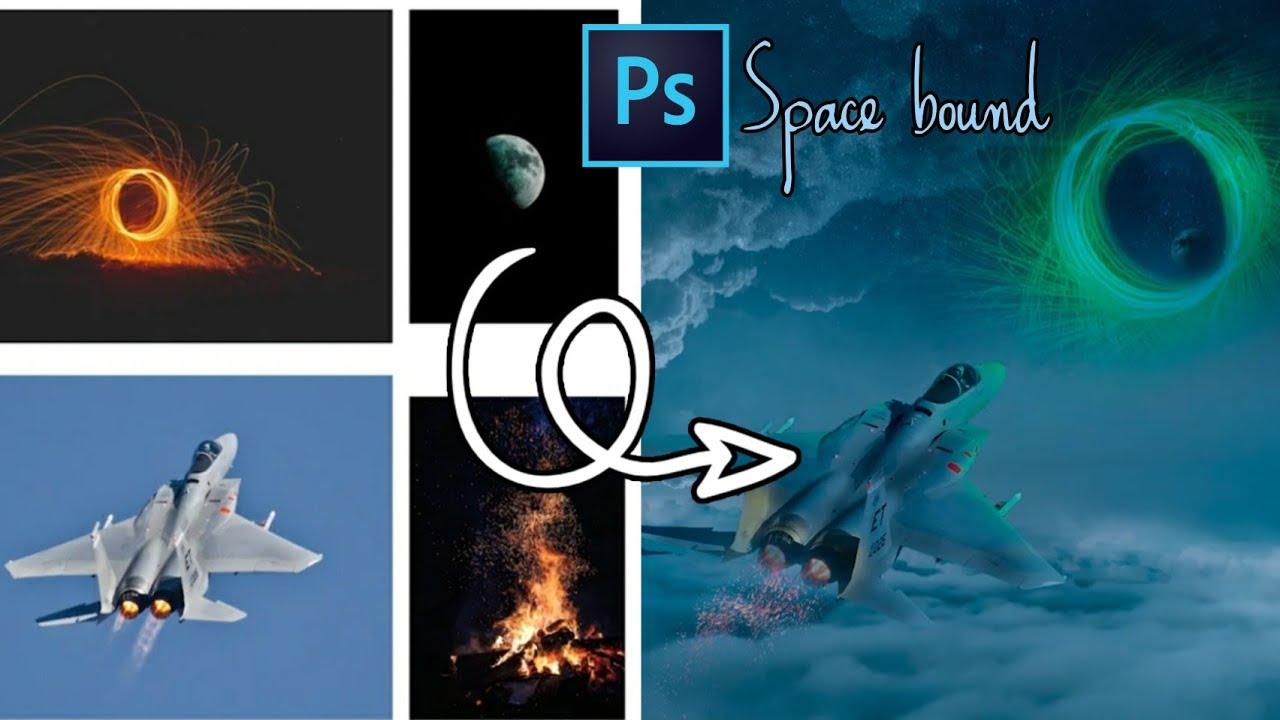 """Photoshop Artwork Tutorial """" Space Bound """""""