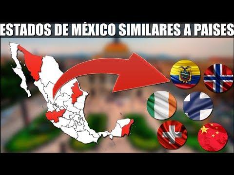 Estados de México que son similares a países....(PIB, Economía, territorio, población, etc).