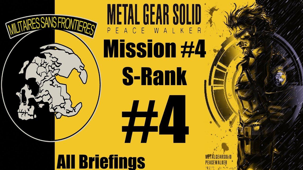 Metal Gear Solid Peace Walker Hd Stealth Walkthrough Mission 4
