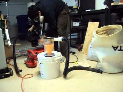 Test Of Second Prototype Of Diy Cyclonic Dust Separator