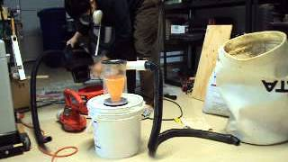 Test Of Second Prototype Of Diy Cyclonic Dust Separator Vacuum Cleaner Made From Cd Containers