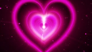 Neon Lights Love Heart Tunnel And Romantic Abstract Glow Particles TikTok Trend Background