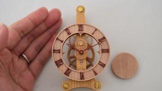 木時計-mini- 木の歯車で作る振り子時計【木時計工房】