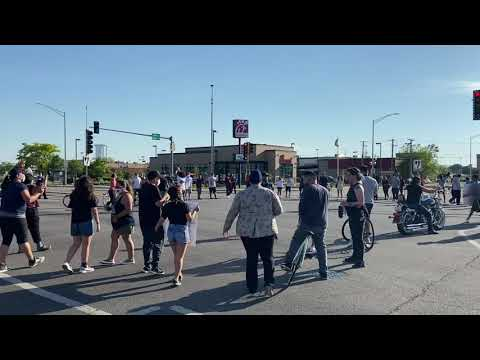 Peaceful protest briefly closes Harlem and Cermak, June 2, 2020, Part 2