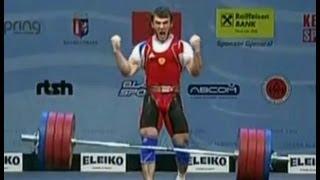 Апти Аухадов  рывок и толчок  Чемпионат Европы 2013