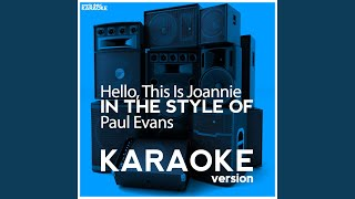 Hello, This Is Joannie (Karaoke Version)